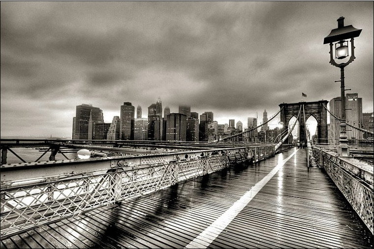 Brooklyn Bridge Rain