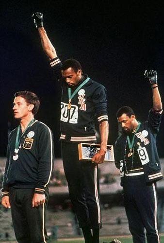 Tommie Smith, John Carlos, and Peter Norman, 1968 Olympics