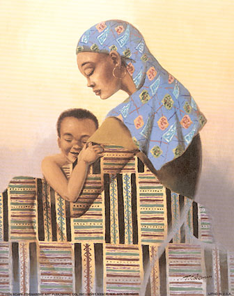 9496black-mother-and-son-posters