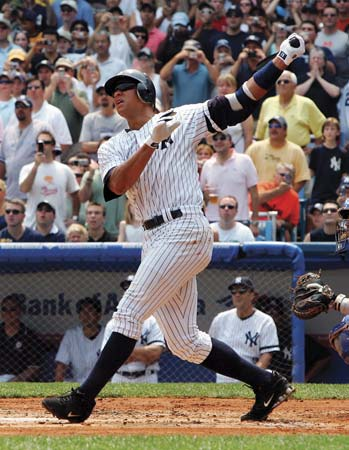 alex rodriguez hitting
