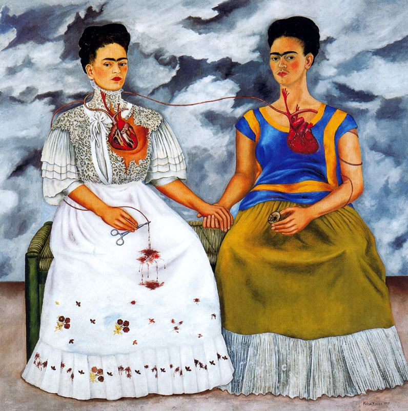 "Frida Kahlo\'s ""Le Due Frida\"""