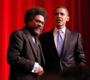 Cornel West and Barack Obama