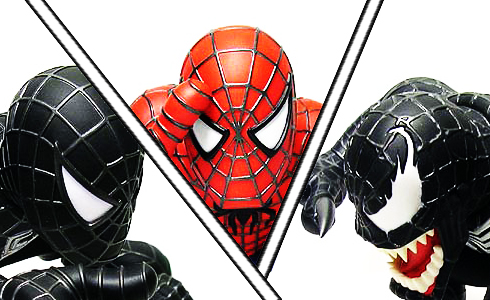 Black Spiderman vs. Spiderman vs. Venom