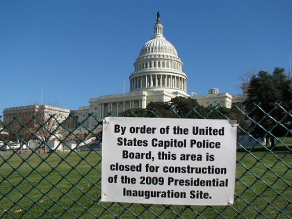 Inauguration Site Closed for Construction