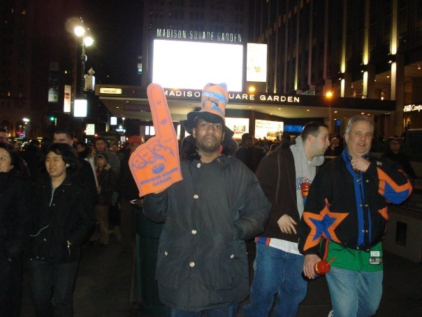 Jose Vilson, #1 Knicks Fan (at least for one night)