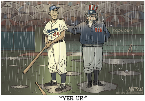 Barack Obama as Jackie Robinson