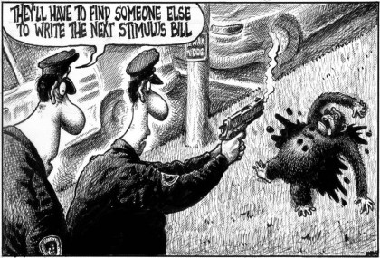 NY Post Editorial Cartoon (2/18/09)