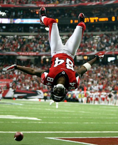 Roddy White Touchdown Flip