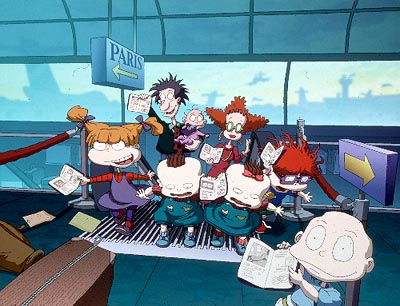 Rugrats, with Tommy taking the lead