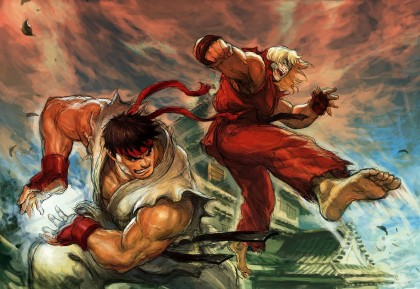 Ryu vs. Ken, Street Fighter, as interpreted by EastMonkey