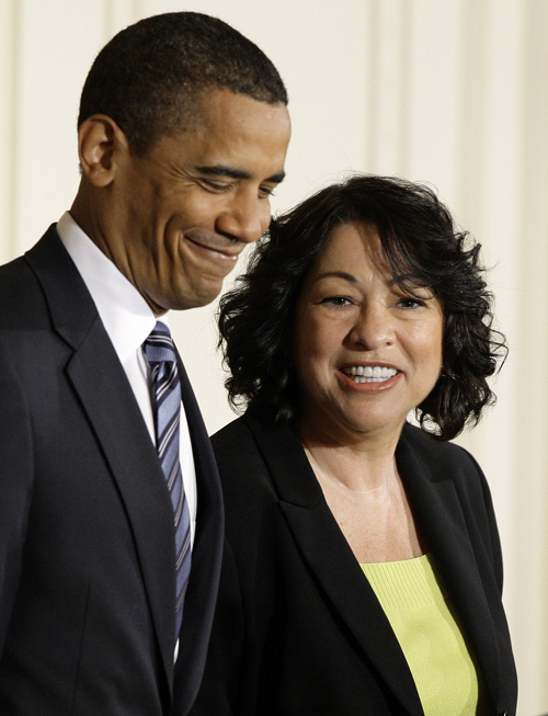 Supreme Court Judge Sonia Sotomayor and President Obama