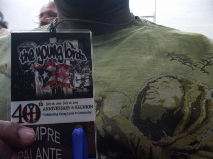 Me With a Young Lords Event Pass