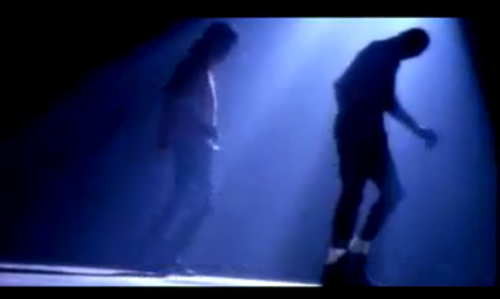 "Michael Jackson and Michael Jordan, Moonwalking in ""Jam"""