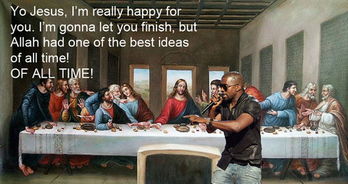 Kanye West Interrupts ... Jesus Christ!