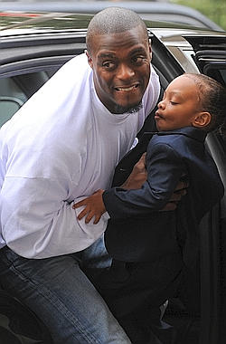 Plaxico Burress with Son, Elijah