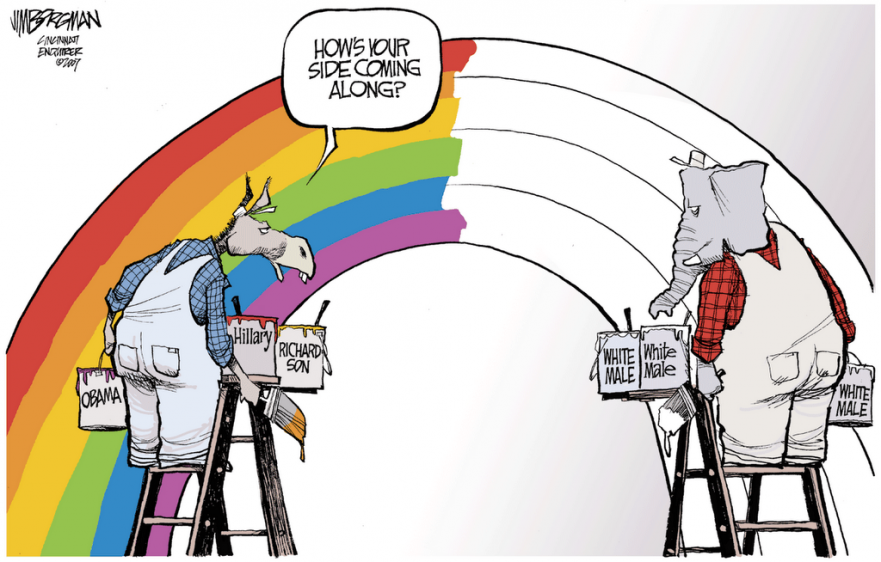 A Rainbow Coalition? Not Quite.