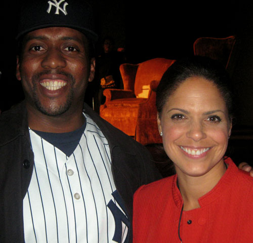 Soledad O'Brien and I at the Latino in America event at Museo del Barrio, Spanish Harlem, NYC