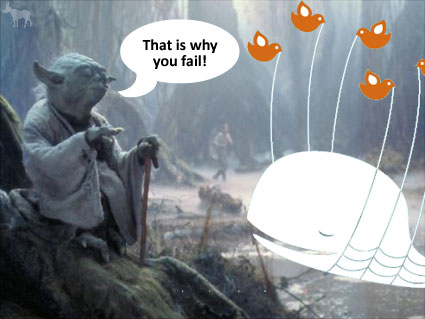 "Yoda says, ""That is why you fail!"""