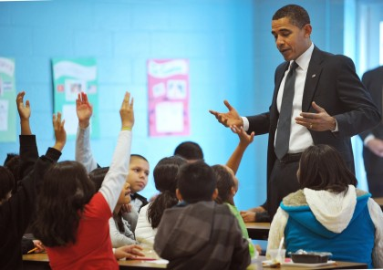Barack Obama at School