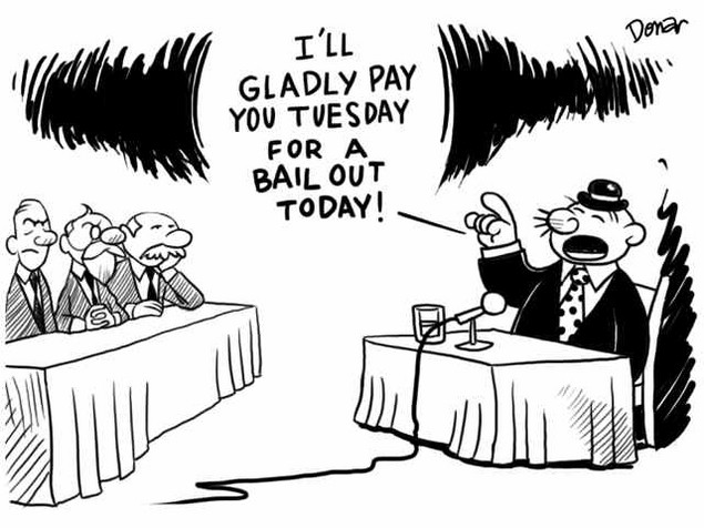 Wimpy Asks for a Bailout