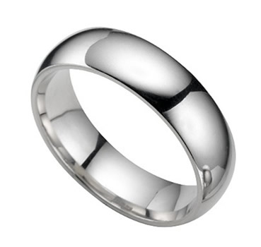Circular Platinum Ring