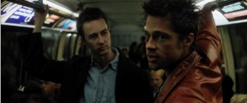Fight Club with Edward Norton and Brad Pitt