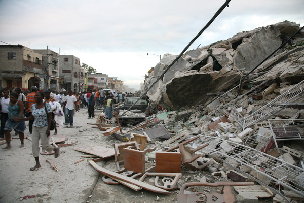 A scene after the earthquake that hit Haiti on January 12th, 2010