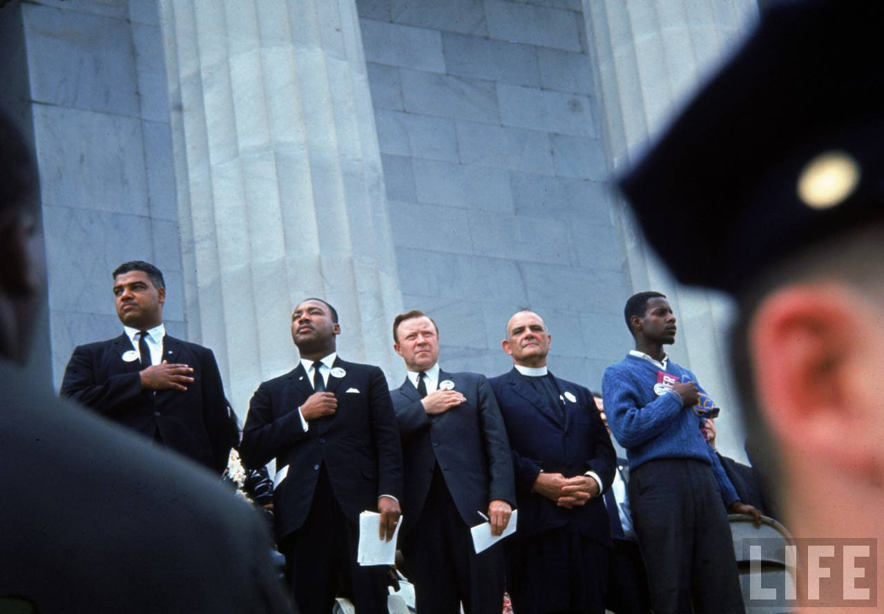 Martin Luther King Jr. Pledging Allegiance at the Lincoln Memorial
