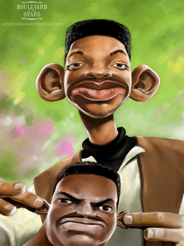 Will Smith and Alfonso Ribiero as Will and Carlton