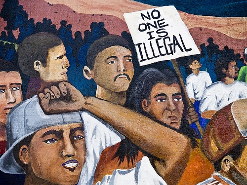 No One Is Illegal Mural