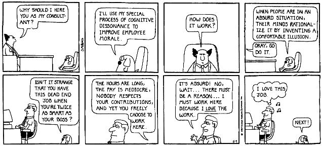 "Dilbert, ""Cognitive Dissonance"""