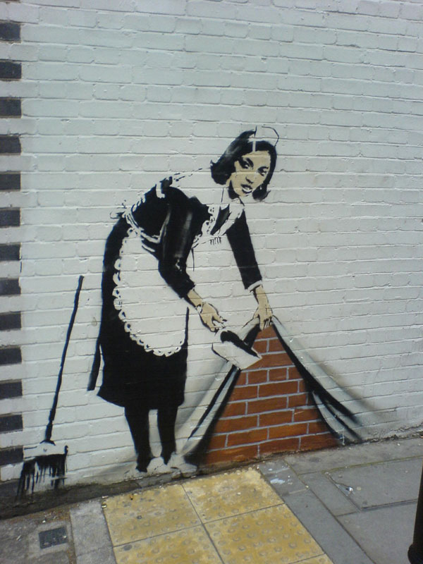 "Banksy Art, ""Wall Art Swept Under The Rug"""