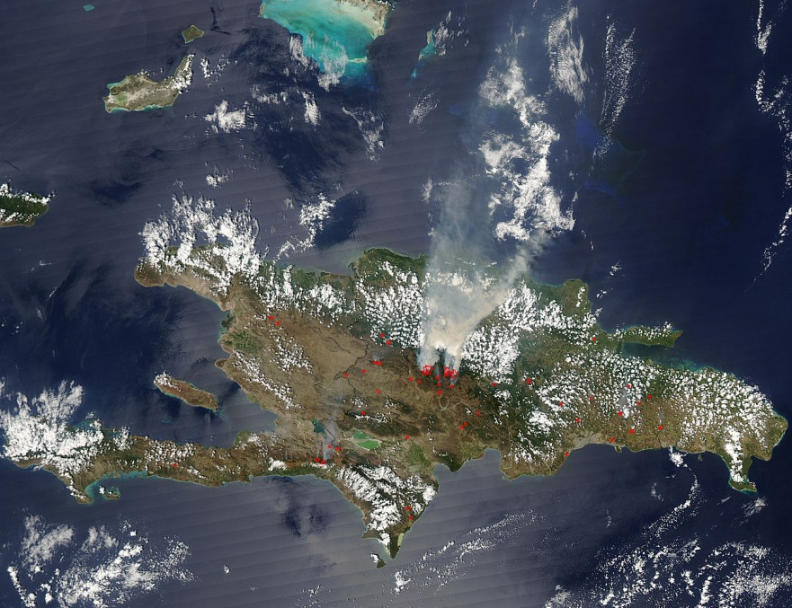 Dominican Republic and Haiti from Space