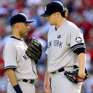 Derek Jeter and Phil Hughes
