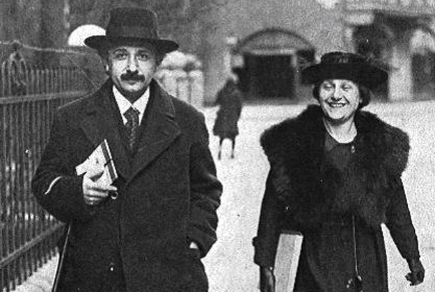 Albert Einstein and 2nd Wife Elsa
