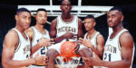 Jimmy King, Juwan Howard, Chris Webber, Jalen Rose, Ray Jackson a.k.a. The Fab Five of UMich