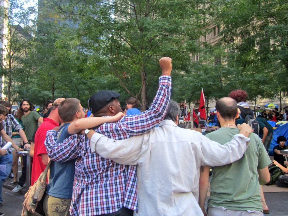 Stephen Lazar, Brian Ford, myself, and others at #OccupyWallStreet, NJTAG pre-Columbus Day Teach-In