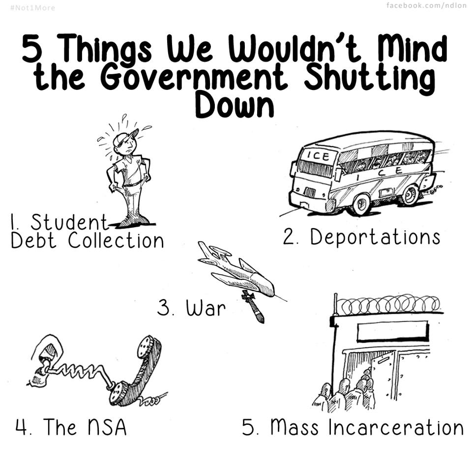 Five Things We Wouldn't Mind The Government Shutting Down