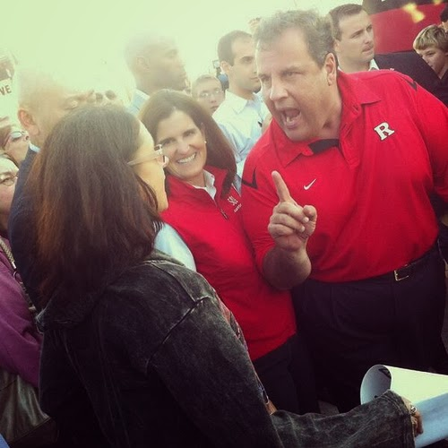 NJ Governor Chris Christie Yelling At Teacher