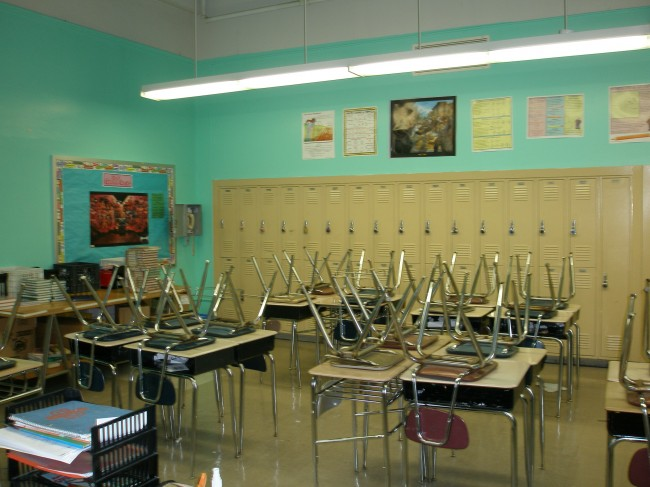 My actual classroom from eight years ago. Same room this year, too.