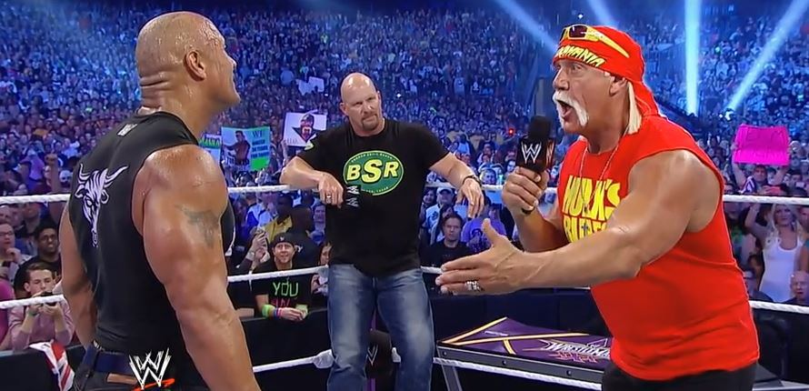 Hulk Hogan, The Rock, Stone Cold Steve Austin