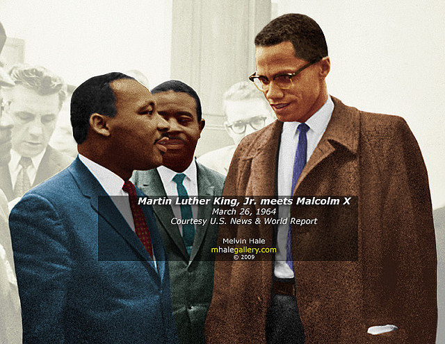 martin luther king and malcolm x There were stark differences in the lives, philosophies, and achievements of martin luther king and malcolm x the son of a respected baptist minister, king was born in georgia, raised in atlanta, and.