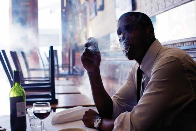 Jay-Z Smoking, Possibly a Cuban