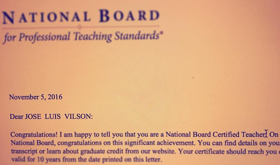 Becoming National Board Certified (Third Time\'s The Charm) [The ...
