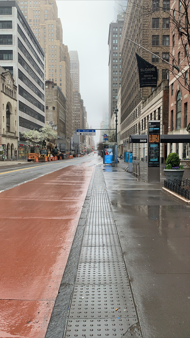 Rainy Day on 34th and 9th Street, NYC